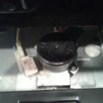The broken oven door latch.