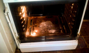 Inside of Maytag Oven Repair with Door Removed